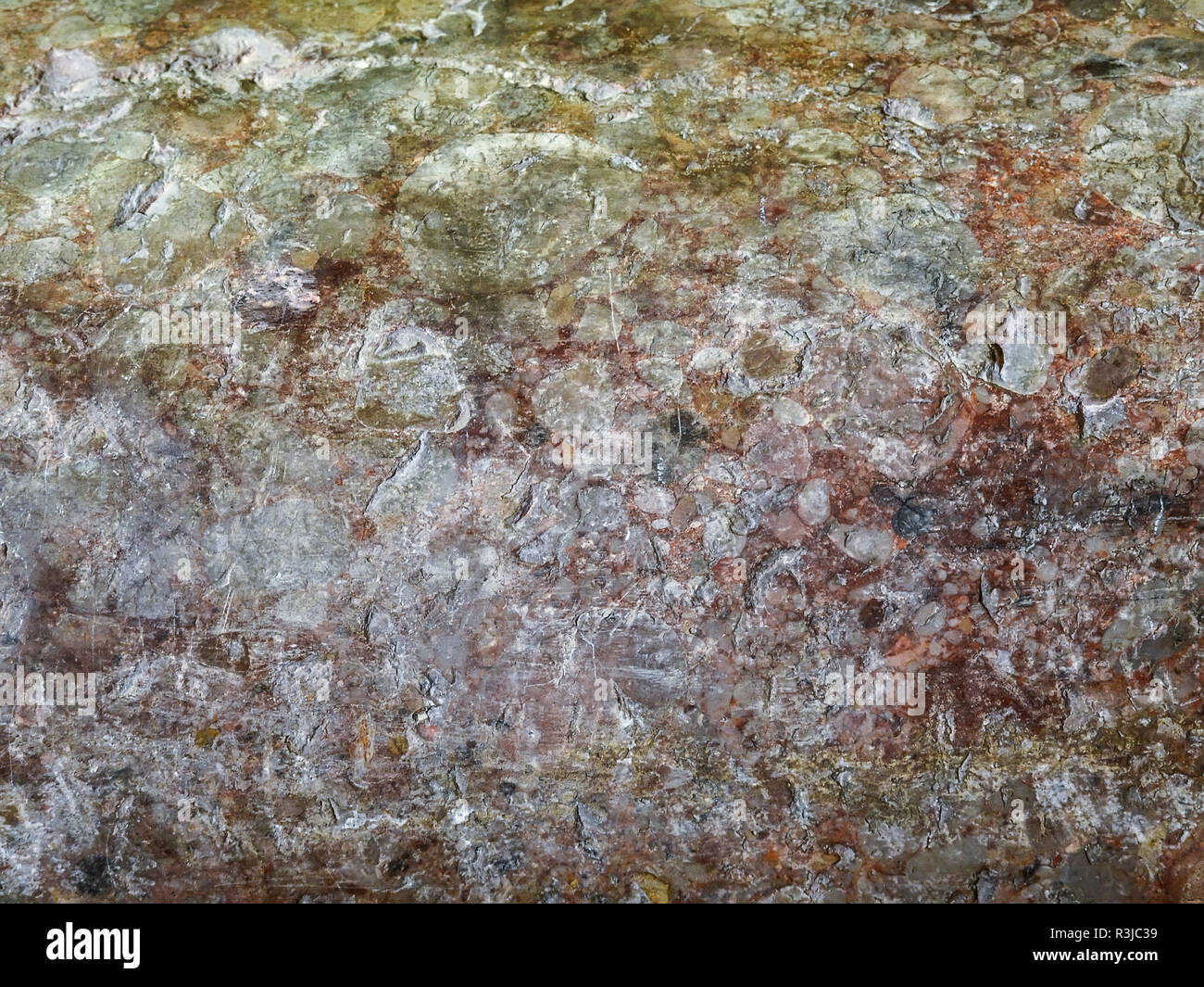 Natural Stone texture, wall marble surface of old building in brown colors for design. - Stock Image