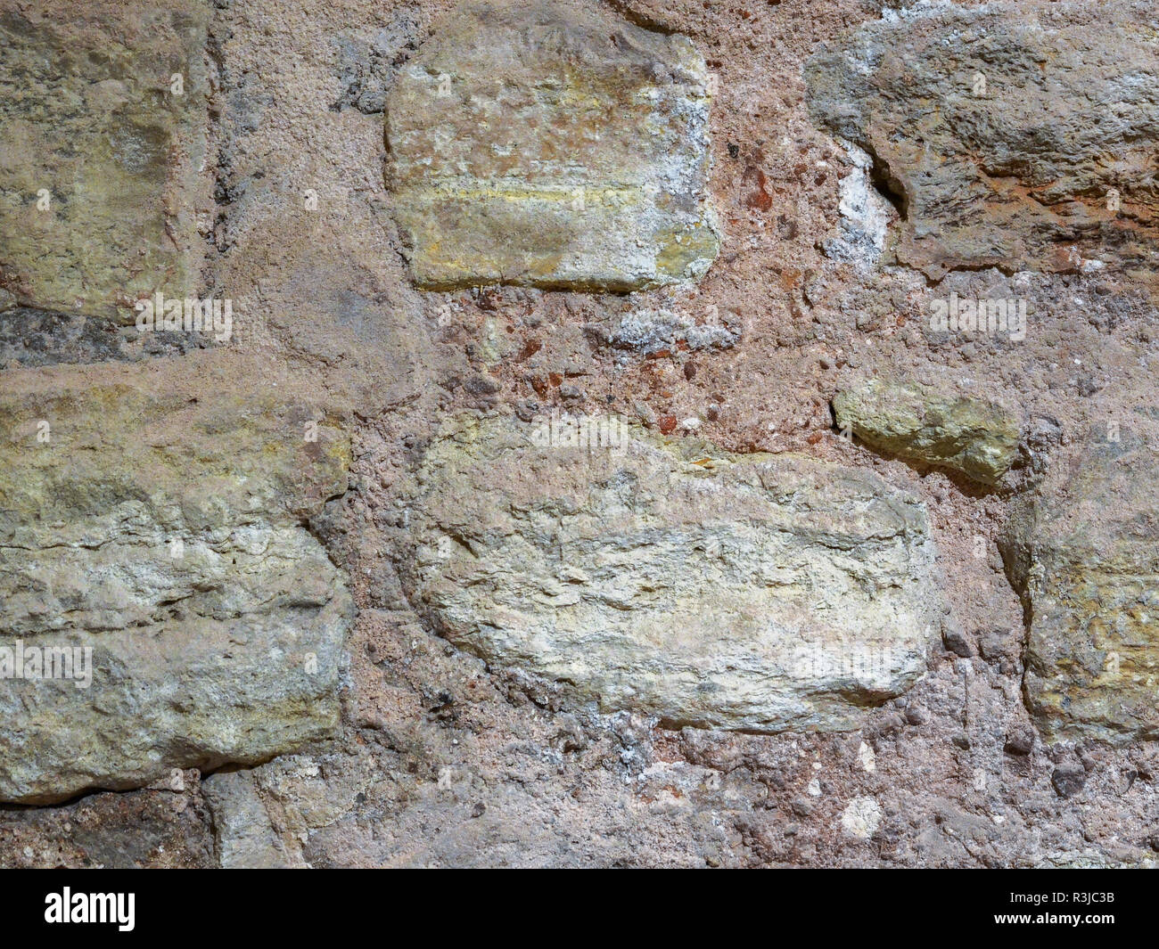Stone texture, wall surface of an old building. - Stock Image