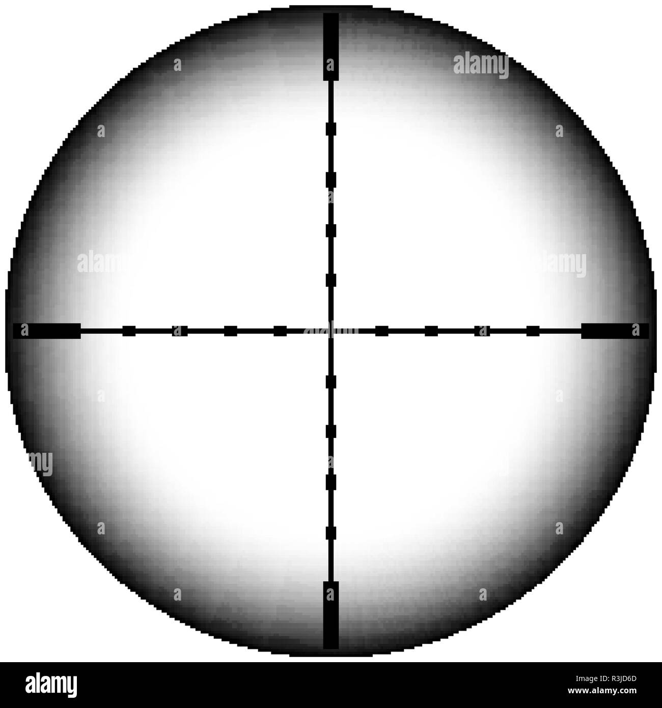 Collimator sight icon. Military sniper rifle target crosshairs Stock Vector