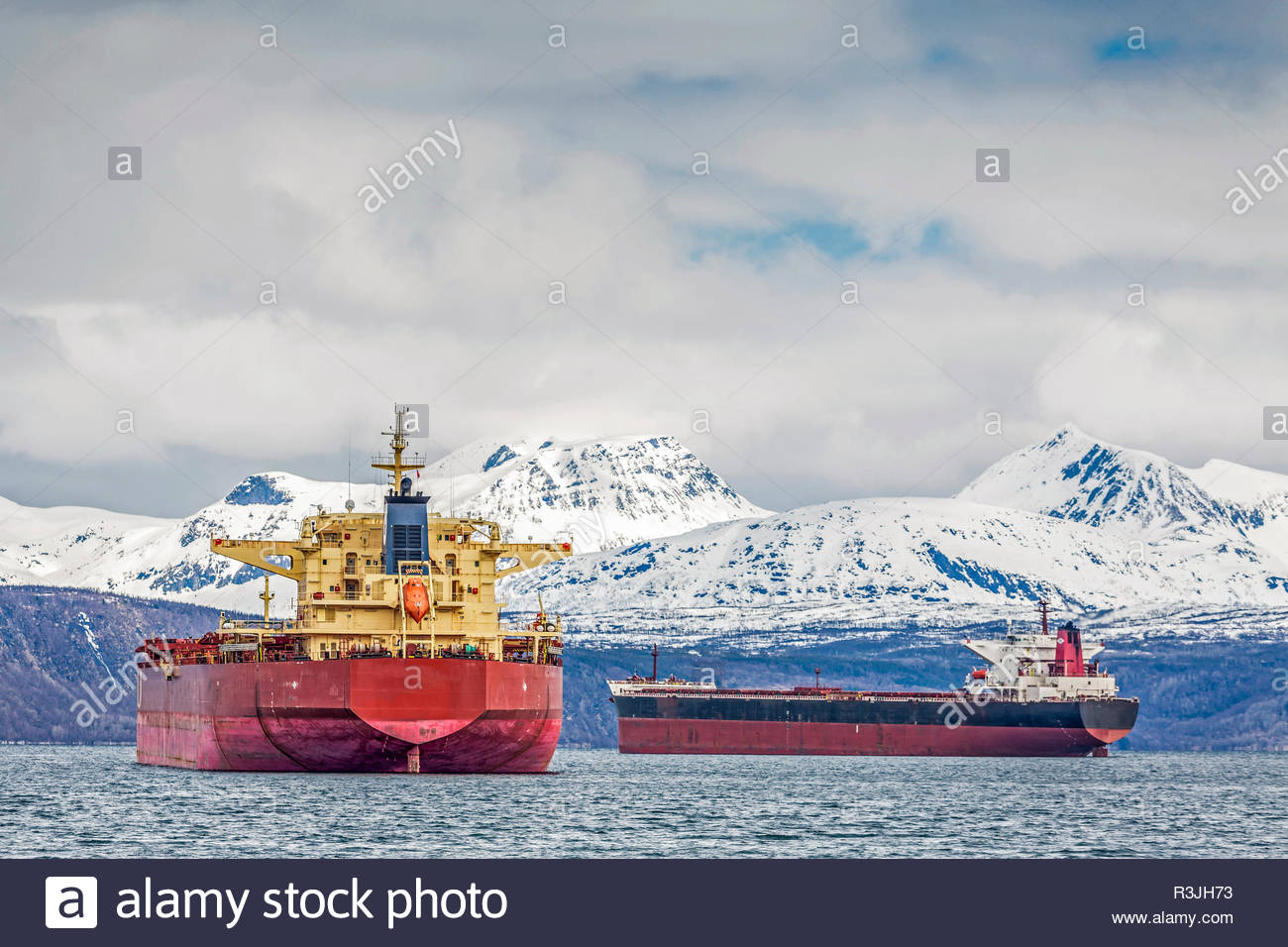 freighter in narvik - Stock Image