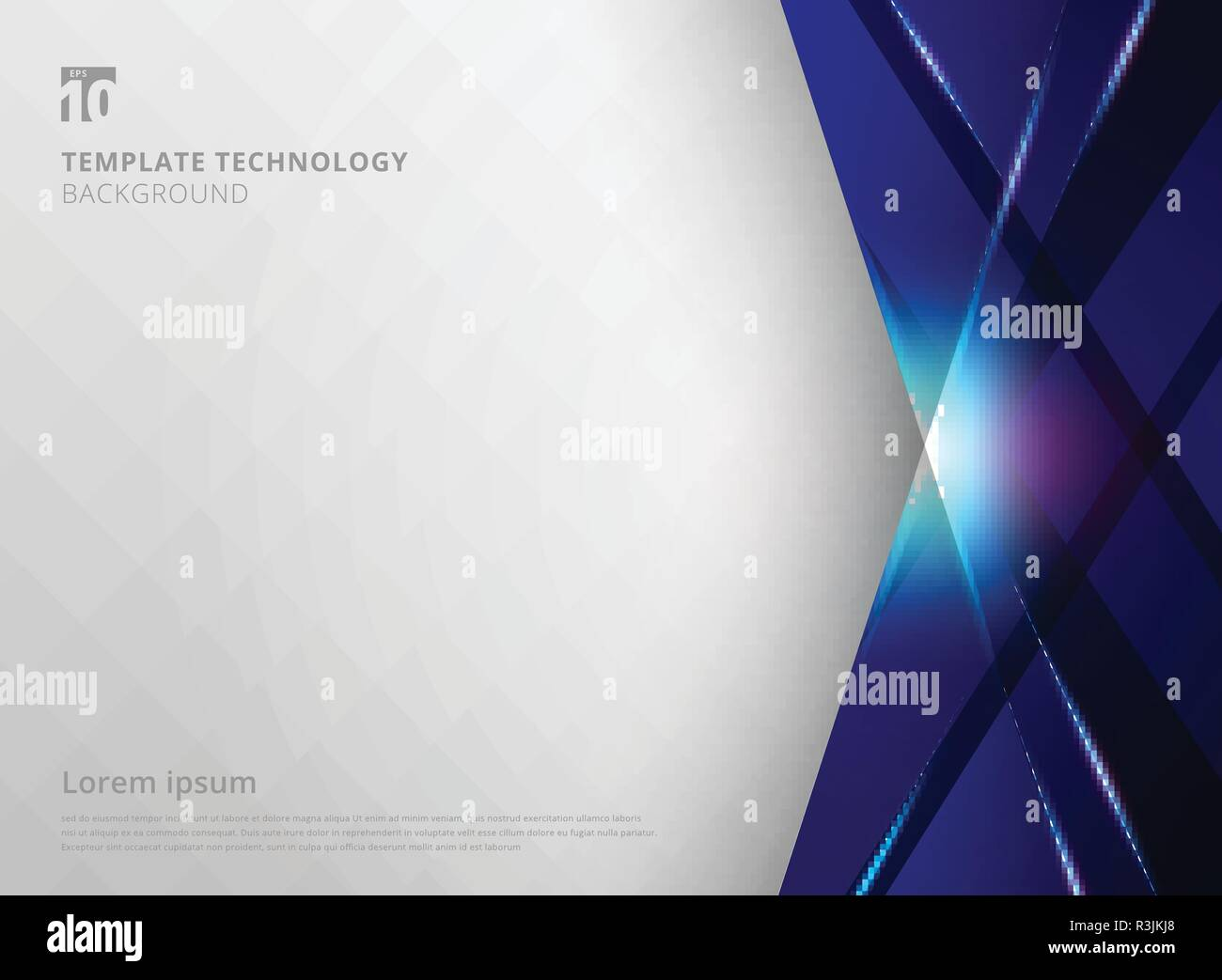 abstract technology geometric blue color laser shiny and lighting