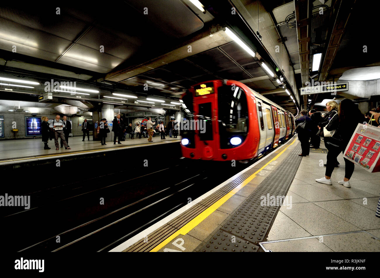 Westminster underground station, London, England, UK. - Stock Image