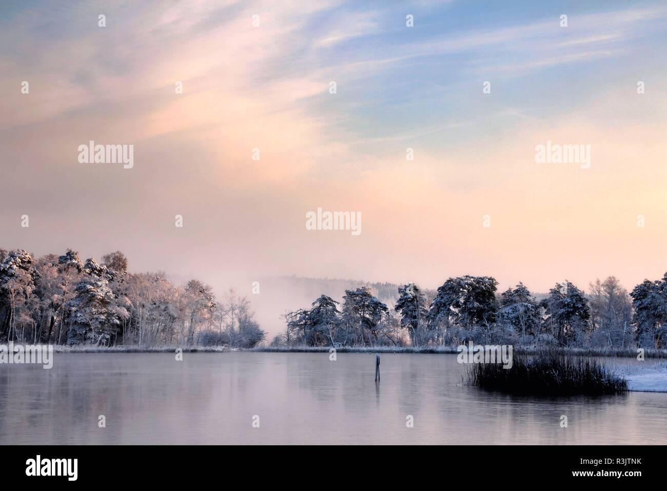 frosty katzensee Stock Photo