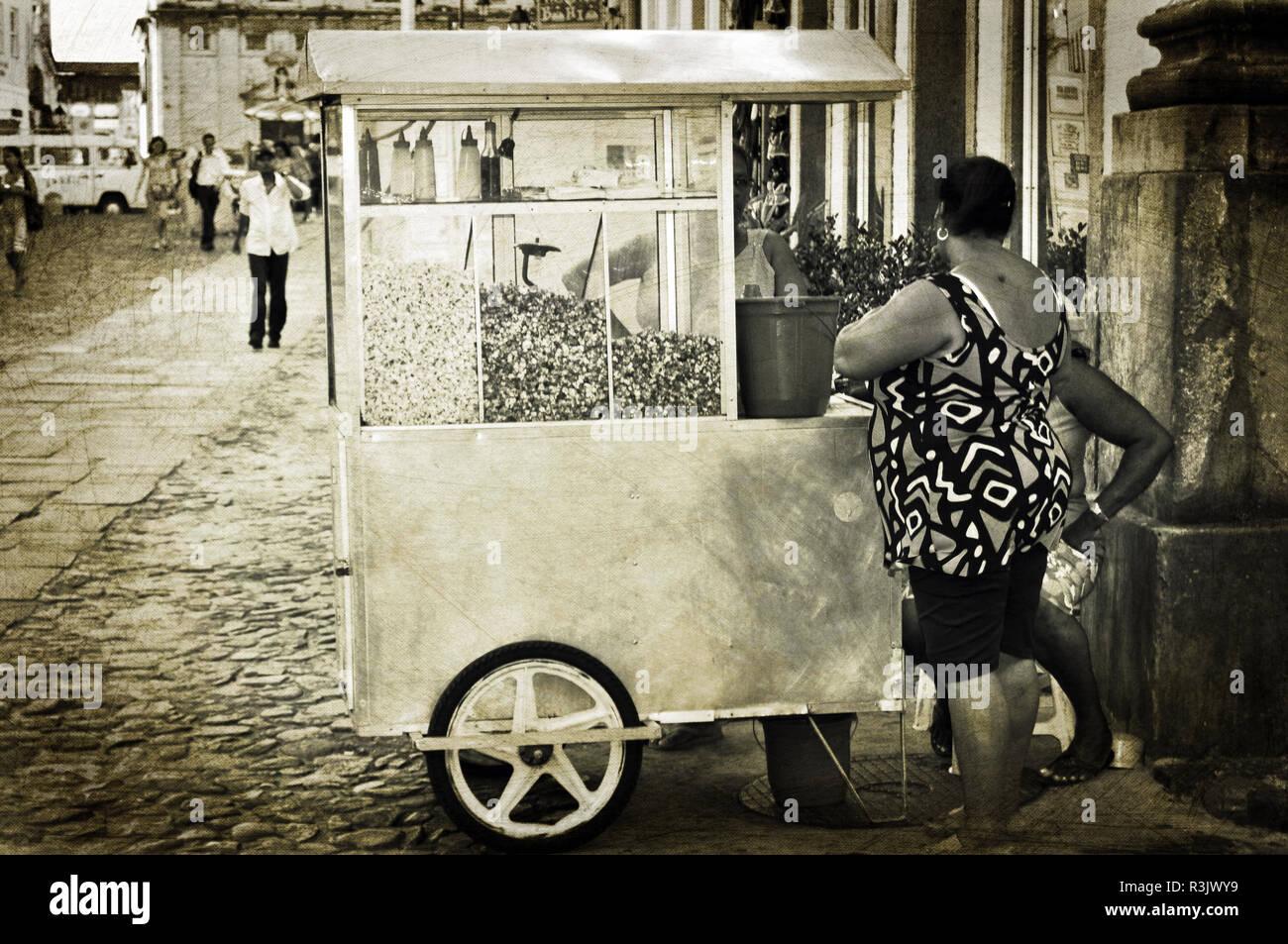 Straßenhandel, Salvaedor da Bahia, Brasilien - Stock Image