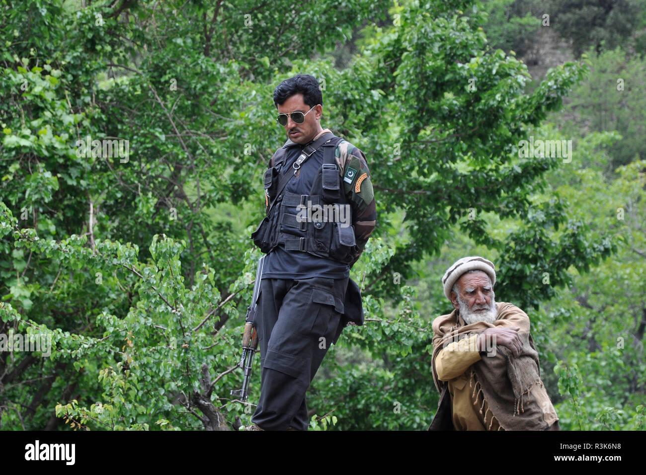 Pakistan, Rambur village - Stock Image