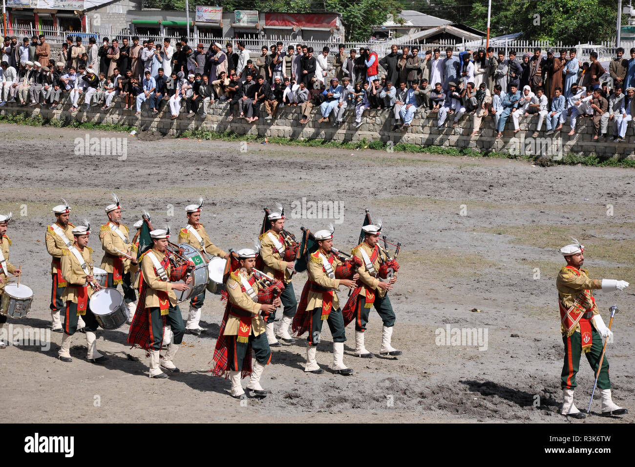 Pakistan, Chitral, parade - Stock Image
