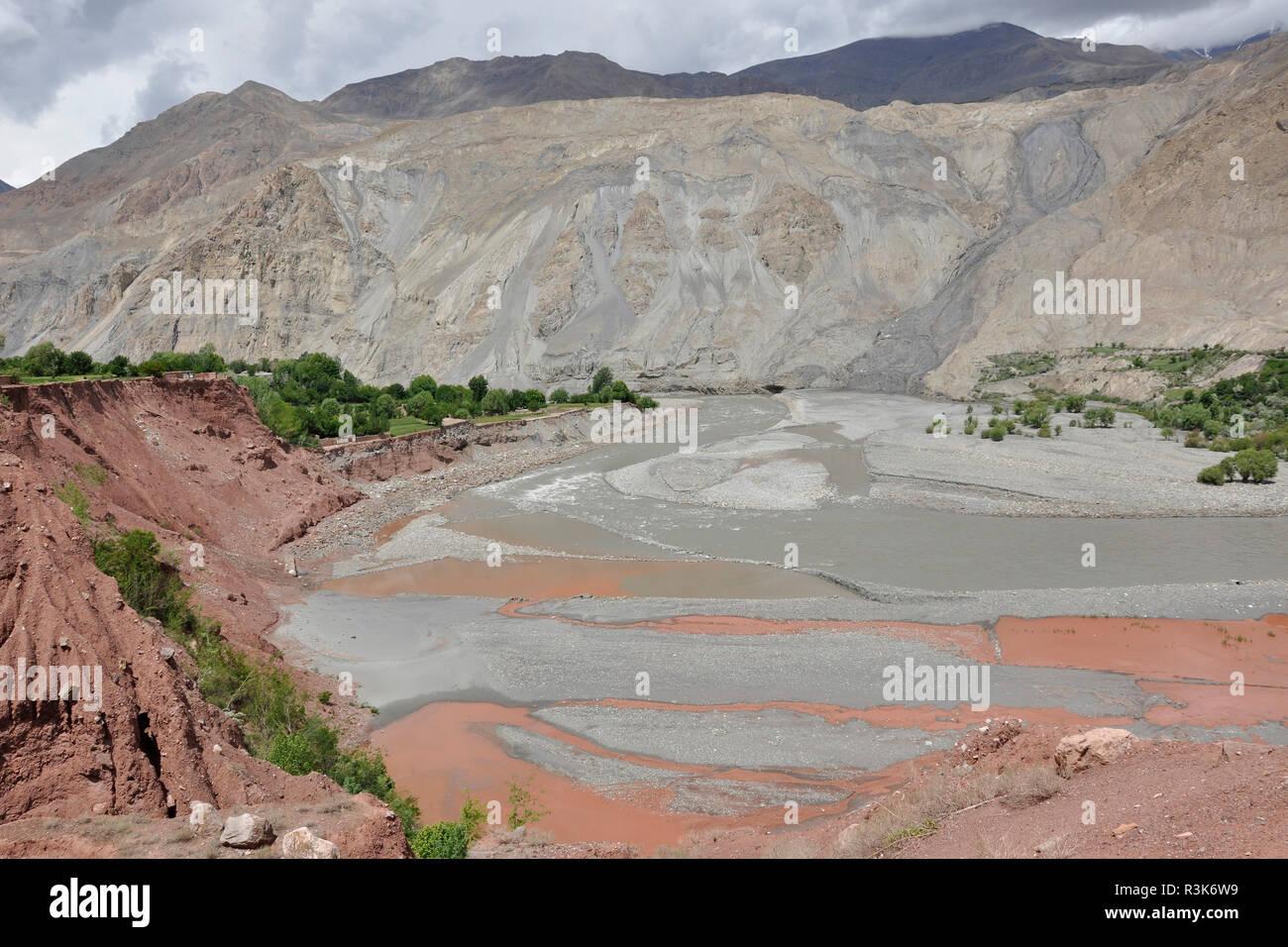 Pakistan, Panjikur plateau, landscape - Stock Image