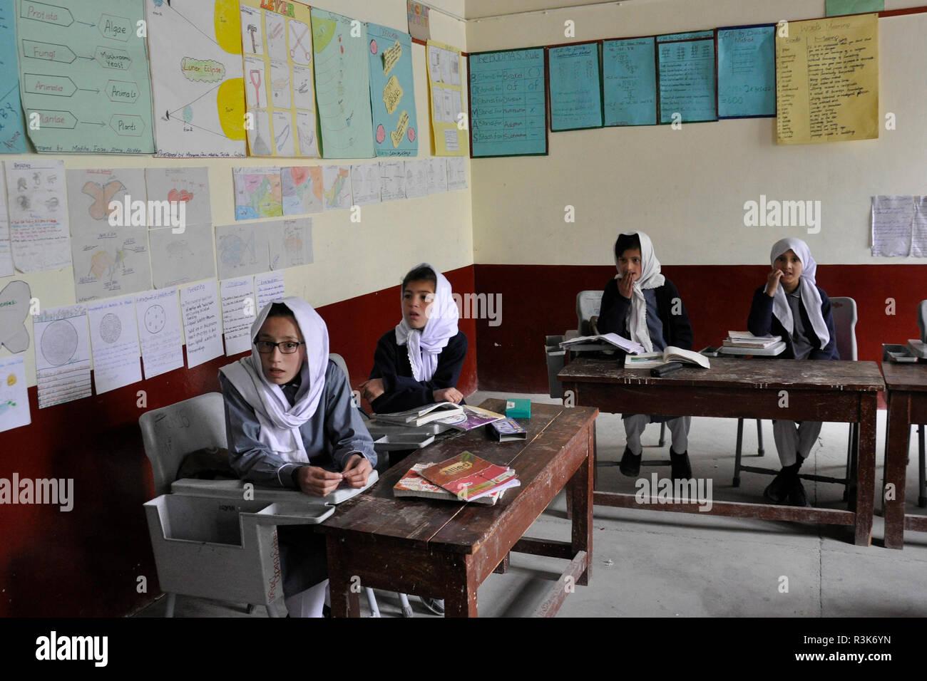 Pakistan, Gulmit, school - Stock Image