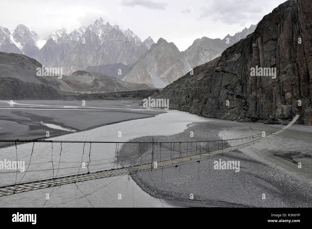 Pakistan, Hunza valley, landscape - Stock Image