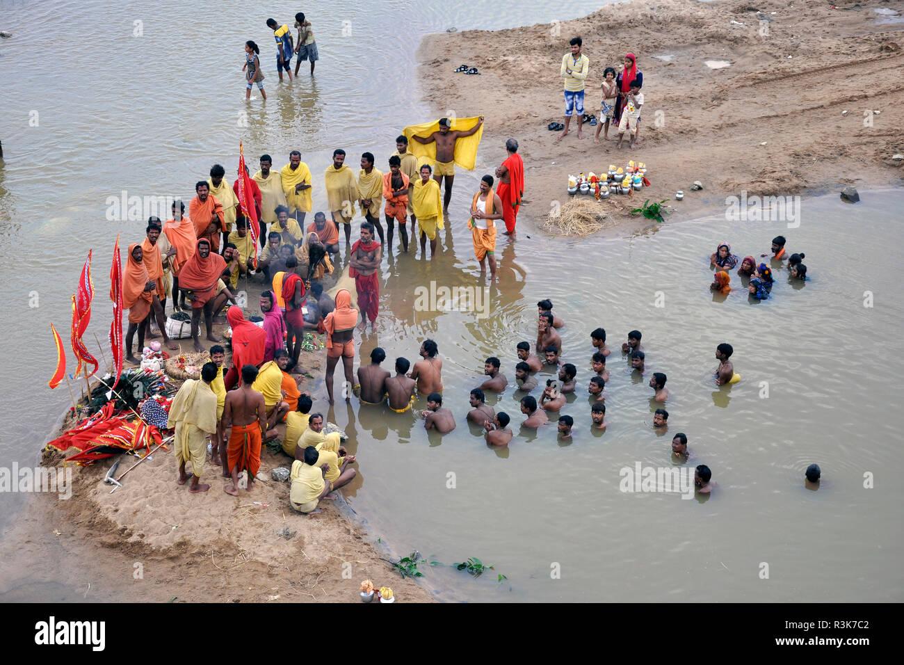 India, Orissa, Rananpur, Danda yatra rite Stock Photo