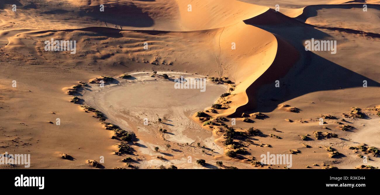 Africa, Namibia, Namib-Naukluft Park. Aerial of desert landscape. Credit as: Wendy Kaveney / Jaynes Gallery / DanitaDelimont.com - Stock Image