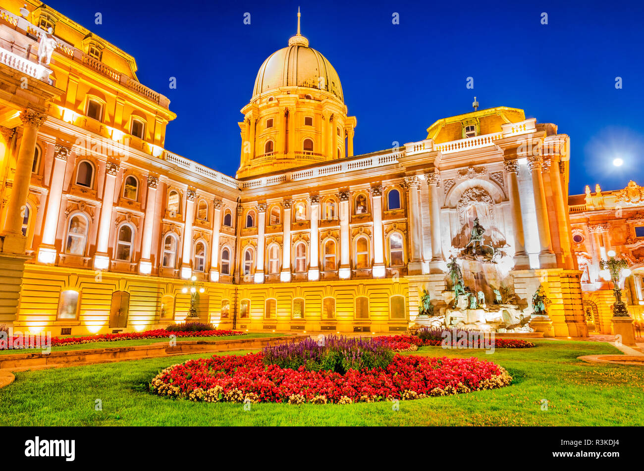 Budapest, Hungary. Buda Castle built on Castle Hill by Magyar kings. - Stock Image