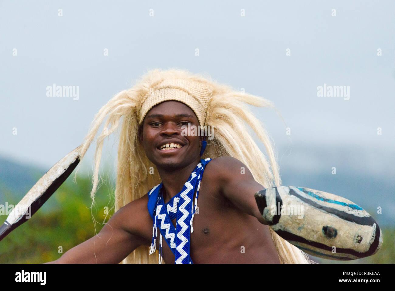 Traditional tribal dance, Rwanda - Stock Image