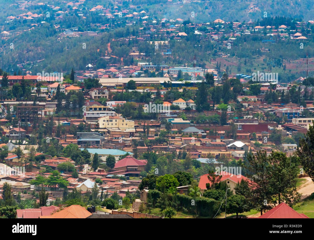 Cityscape, Kigali, Rwanda - Stock Image