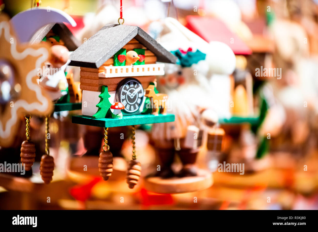 Strasbourg, France. Marche de Noel decorations in Strasbourg, Christmas Market in Alsace. - Stock Image
