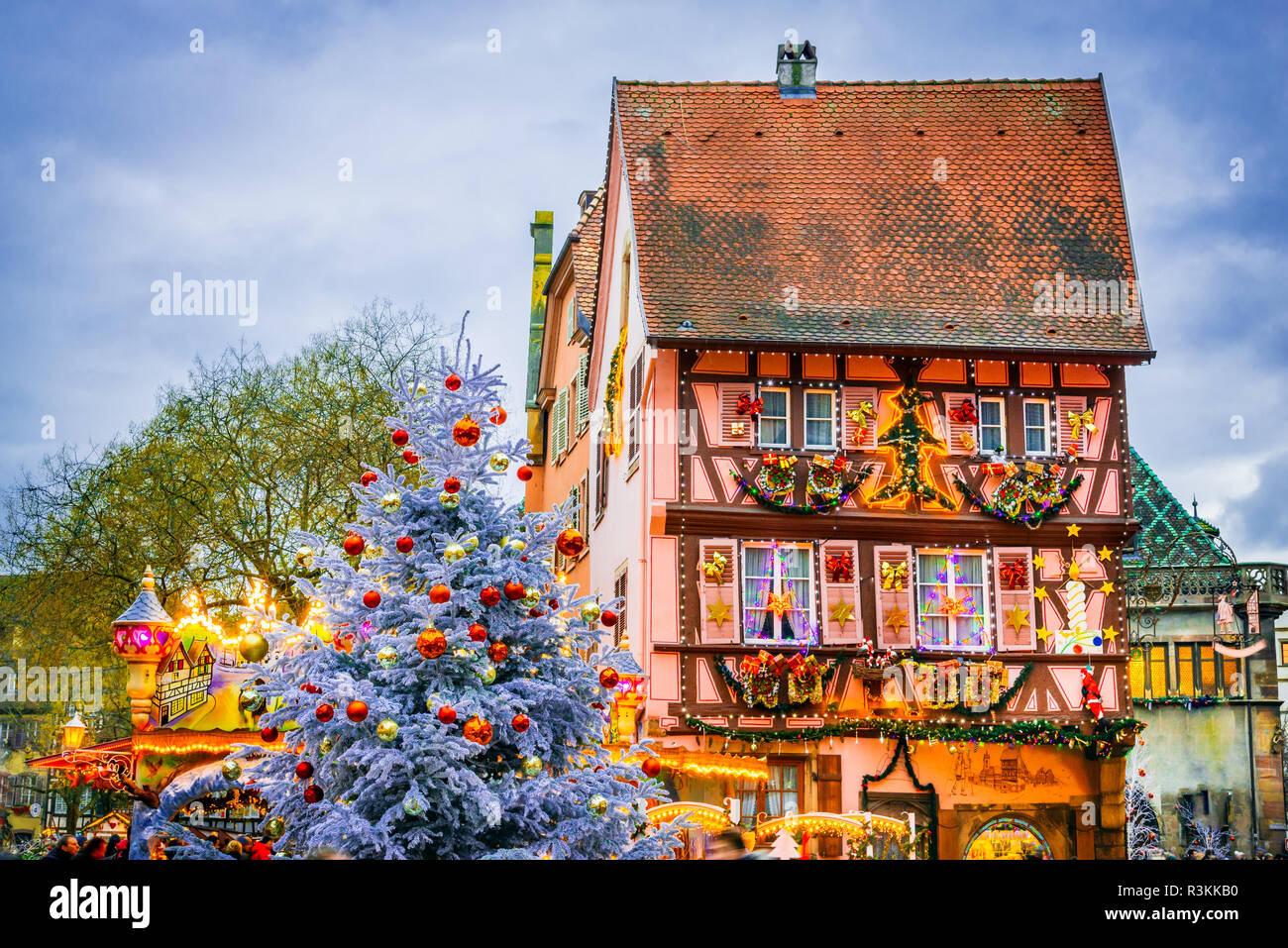 Colmar, France. Traditional Alsatian half timbered houses