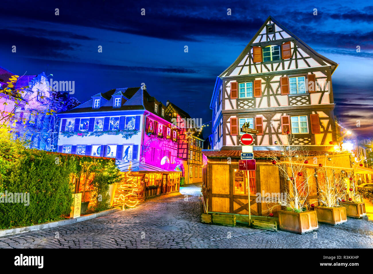 Colmar Alsace France Gingerbread Houses And Christmas Decoration