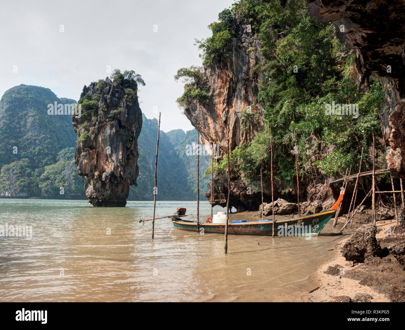Thailand Phuket Phi Phi Islands Longtail Boats At James