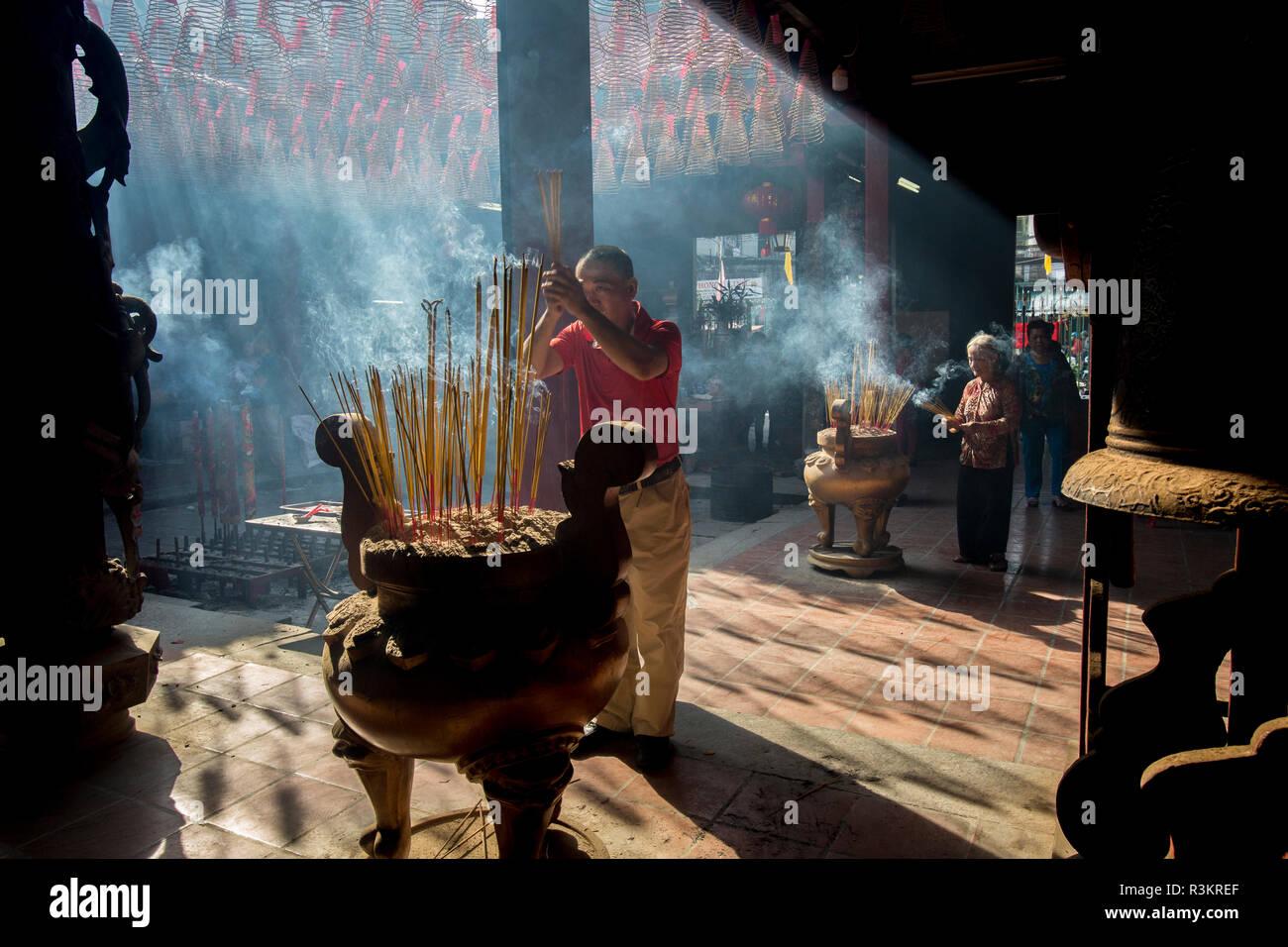 Pagoda. Tet Festival, New Year celebration, Vietnam. - Stock Image