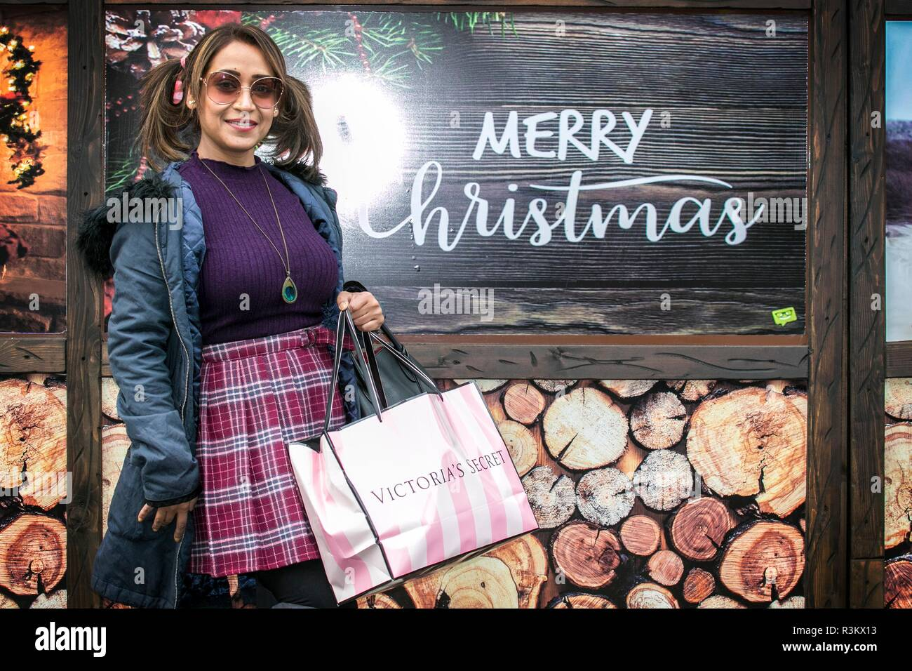 ccbc485aa9b Victorias Secret Black Friday Sales. 23rd November 2018. Woman flocks to Victoria s  secret stores to bag high street bargains on one of the biggest ...