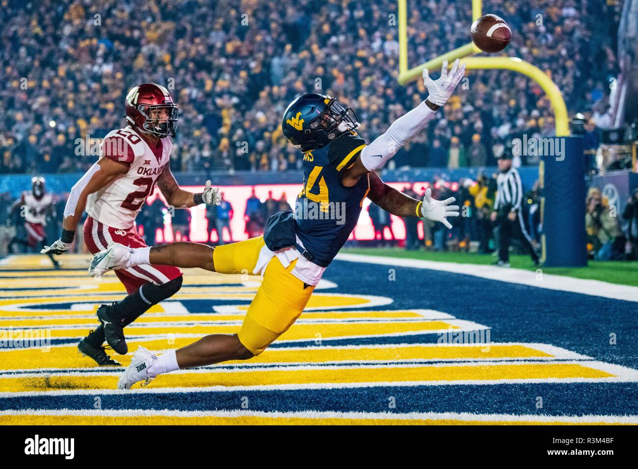 West Virginia Mountaineers tight end Jovani Haskins (84) during the NCAA  college football game between the Oklahoma Sooners and the West Virginia ... afdddf9f1