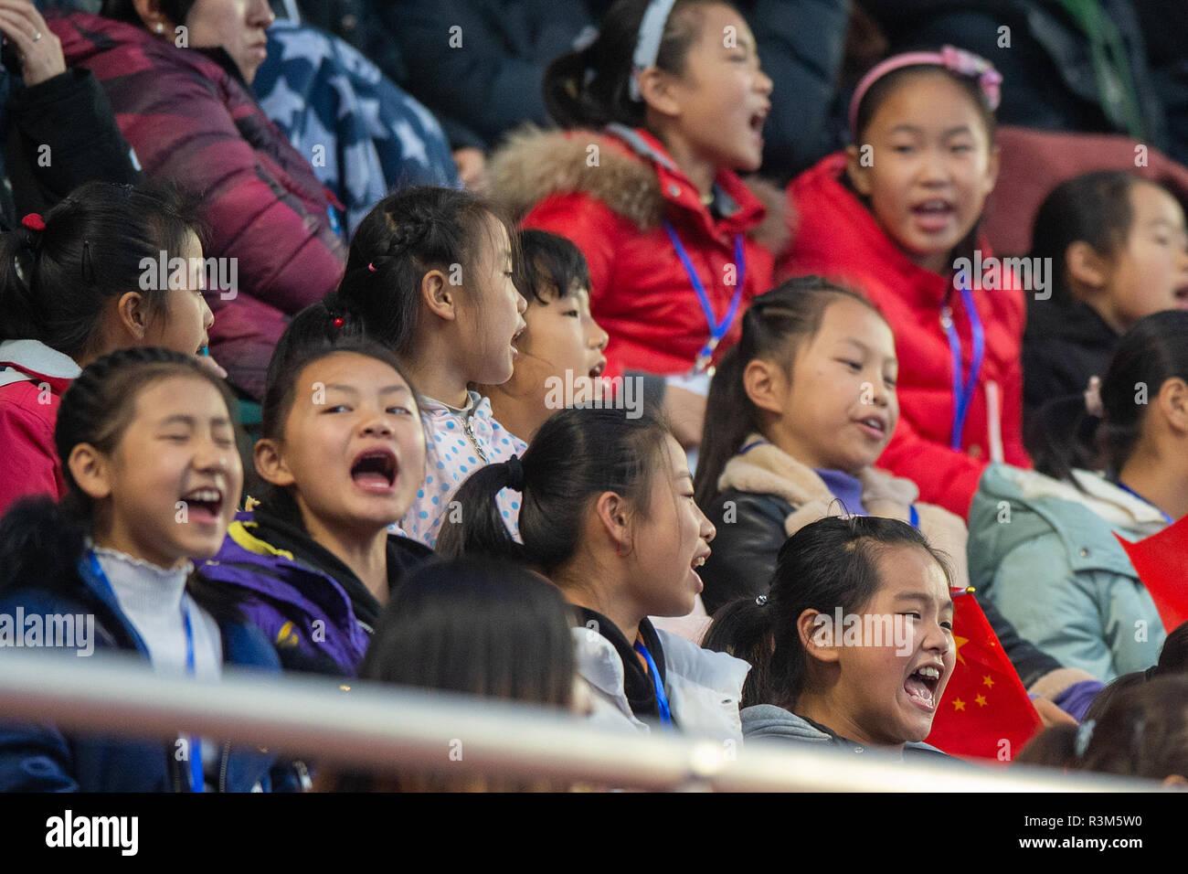 Changzhou, China 24 November 2018 Champions Trophy: Netherlands v China Chinese spectators Credit: Orange Pictures vof/Alamy Live News Stock Photo