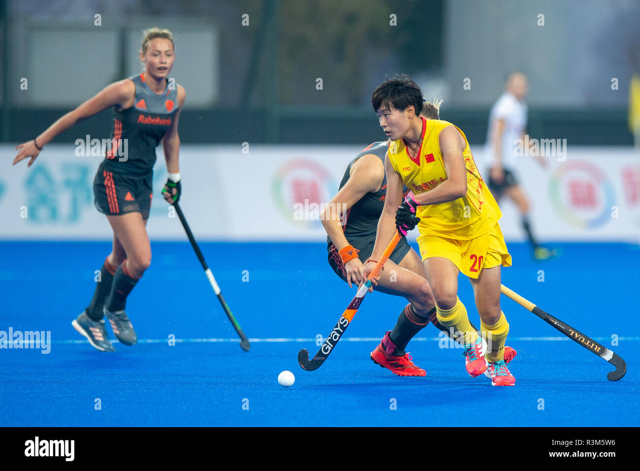 Changzhou, China 24 November 2018 Champions Trophy: Netherlands v China Jiangxin He of China Credit: Orange Pictures vof/Alamy Live News Stock Photo
