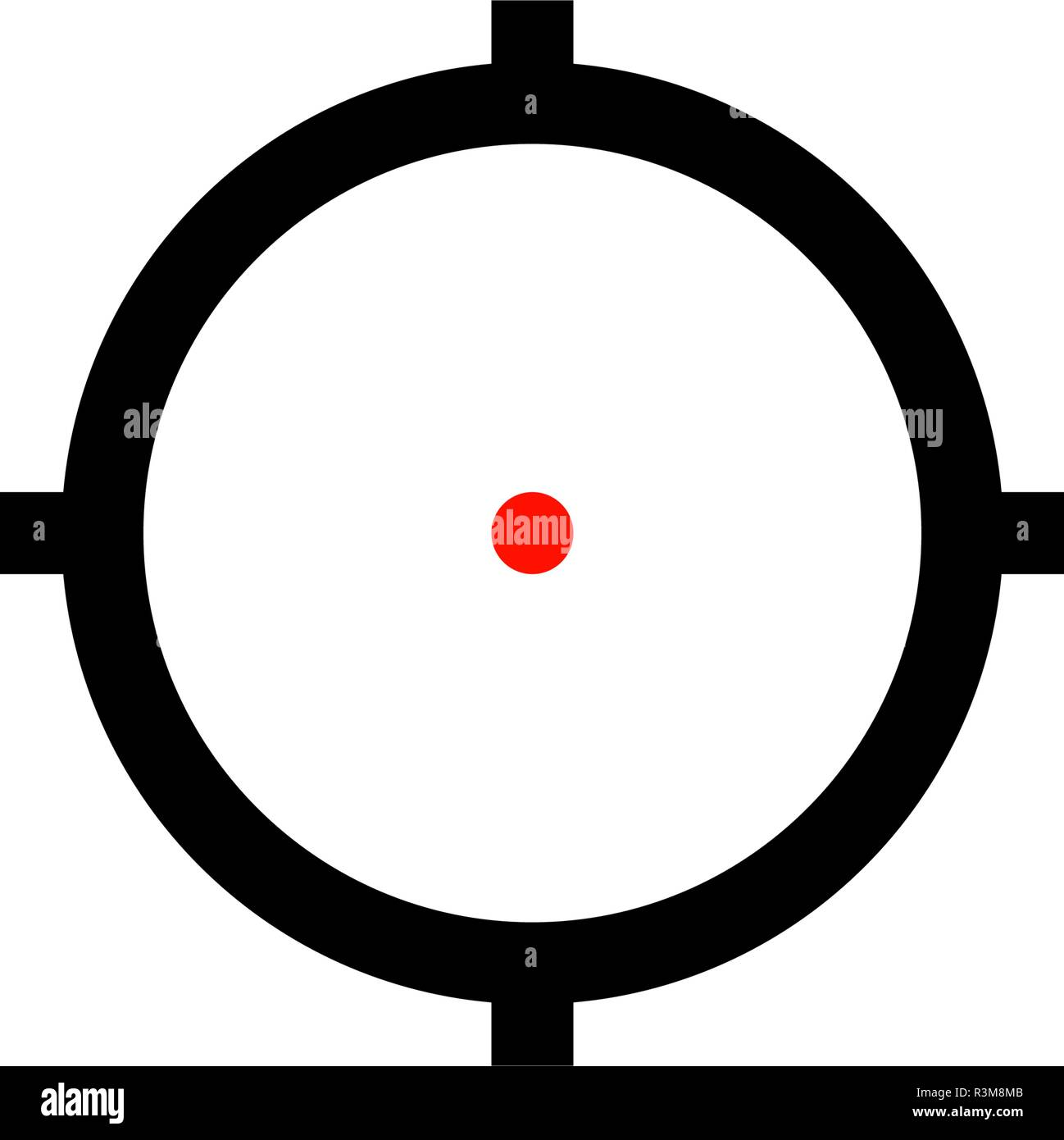 ar sniper target aim icon with red dot stock vector image art alamy https www alamy com ar sniper target aim icon with red dot image226024635 html