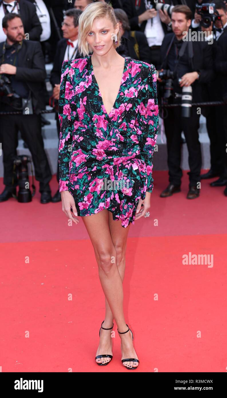 CANNES, FRANCE – MAY 13, 2018: Anja Rubik walks the red carpet for the 'Sink or Swim' screening at the Festival de Cannes (Ph: Mickael Chavet) - Stock Image