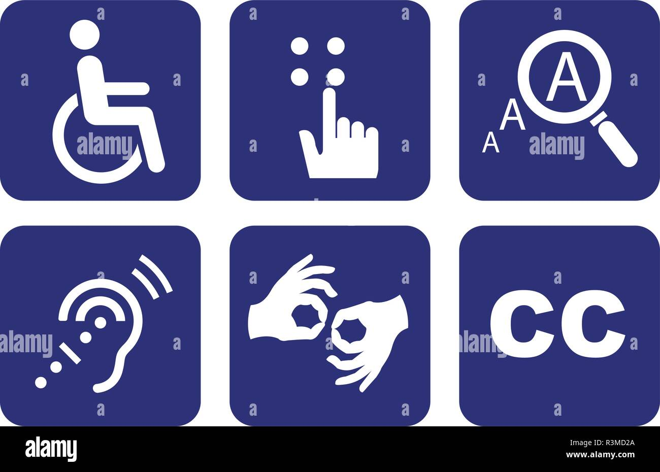 Universal Symbols of Accessibility - Stock Image