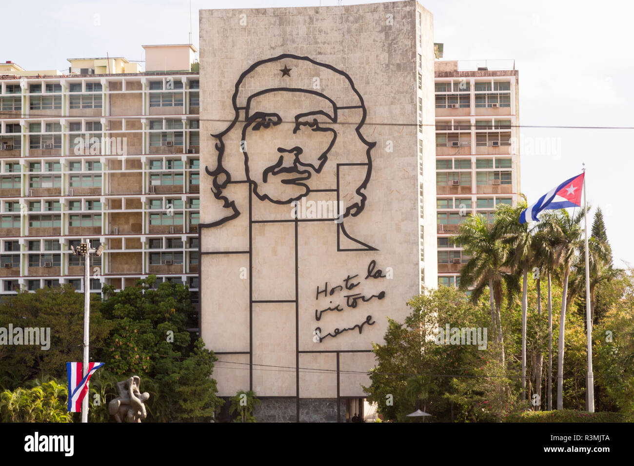 Cuba, Havana. Ministry of the Interior at Revolution Square. Credit as: Wendy Kaveney / Jaynes Gallery / DanitaDelimont.com Stock Photo