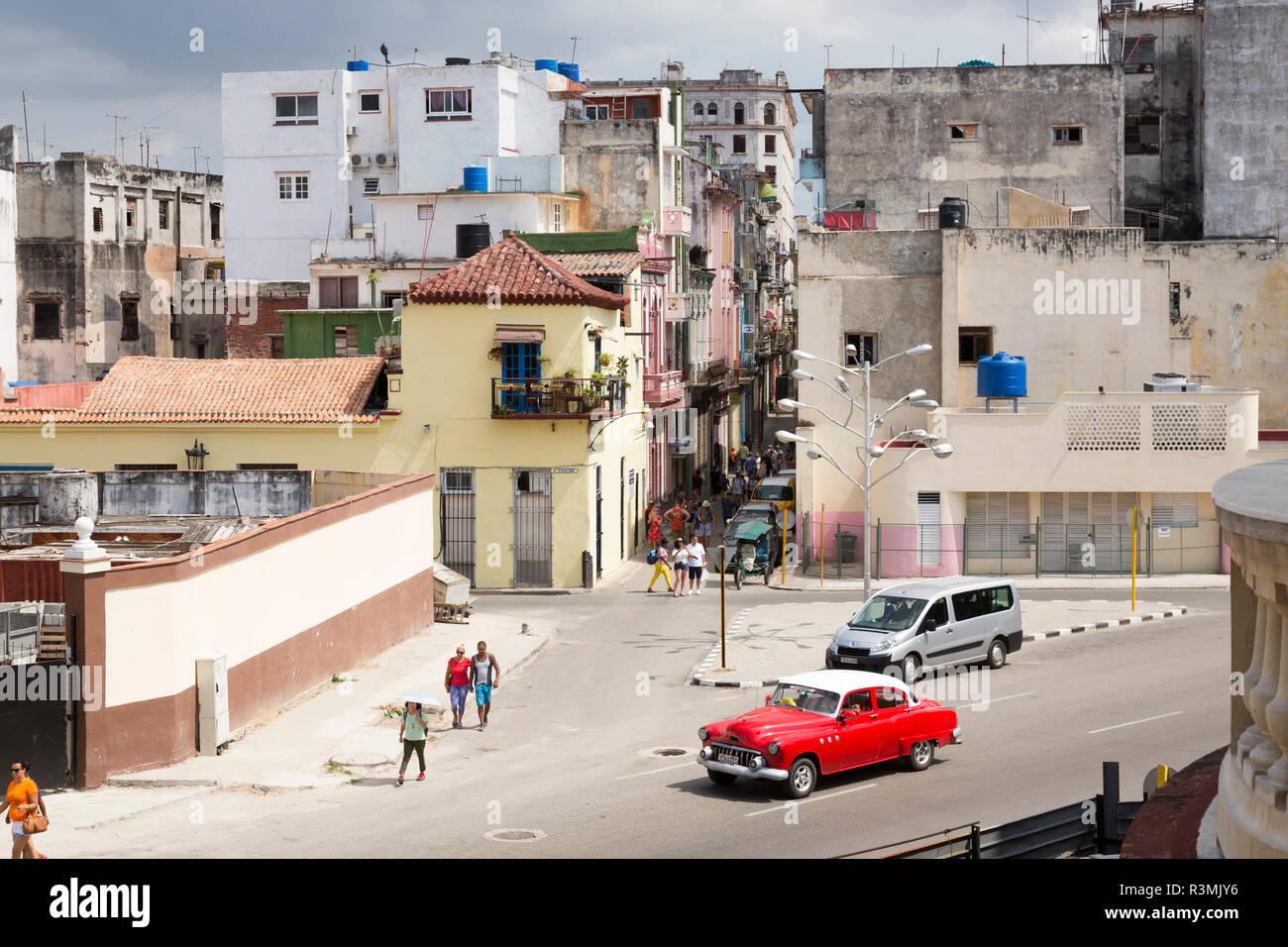 Cuba, Havana, Old Havana. Overview of city street. Credit as: Wendy Kaveney / Jaynes Gallery / DanitaDelimont.com Stock Photo