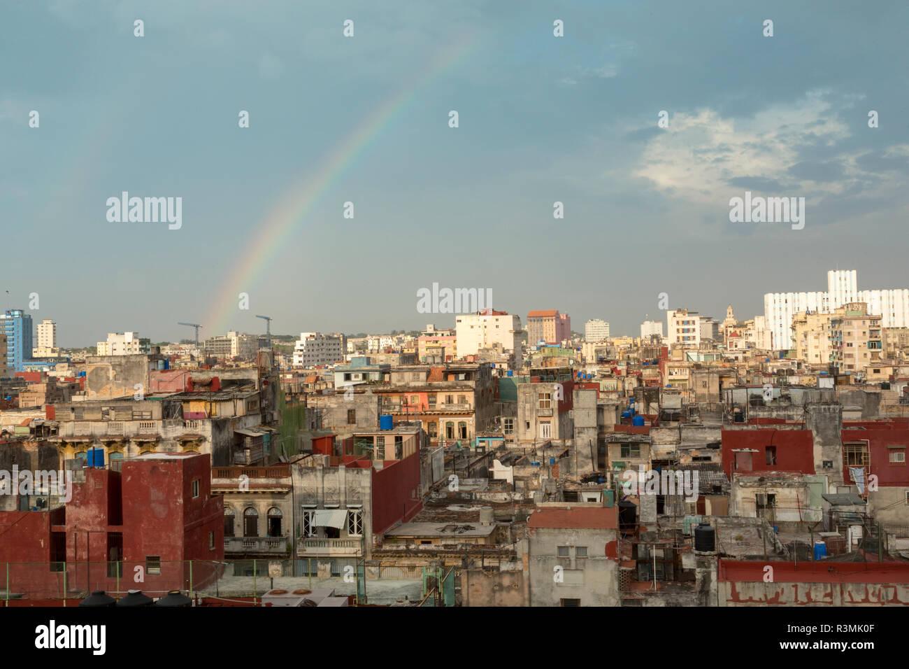 Cuba, Havana. Rainbow over city. Credit as: Wendy Kaveney / Jaynes Gallery / DanitaDelimont.com Stock Photo