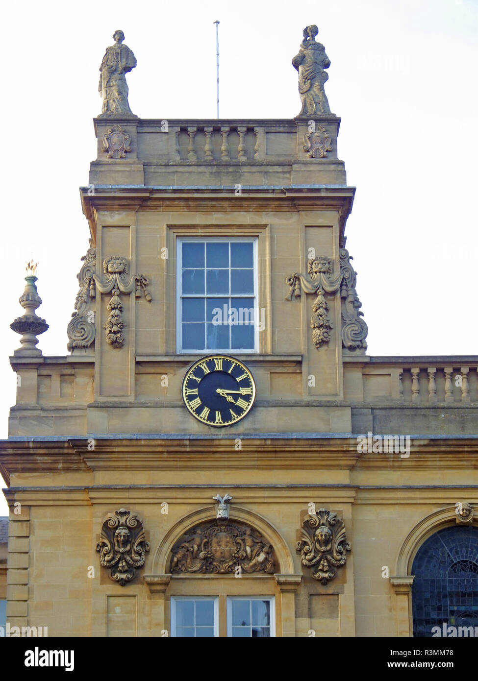 Trinity college chapel tower and clock one of the Oxford University colleges famously used in the Harry Potter films stories by J K Rowling - Stock Image