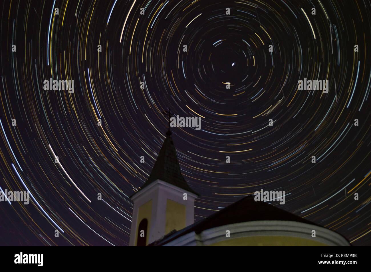Nordstern hinter der Kapelle - Stock Image