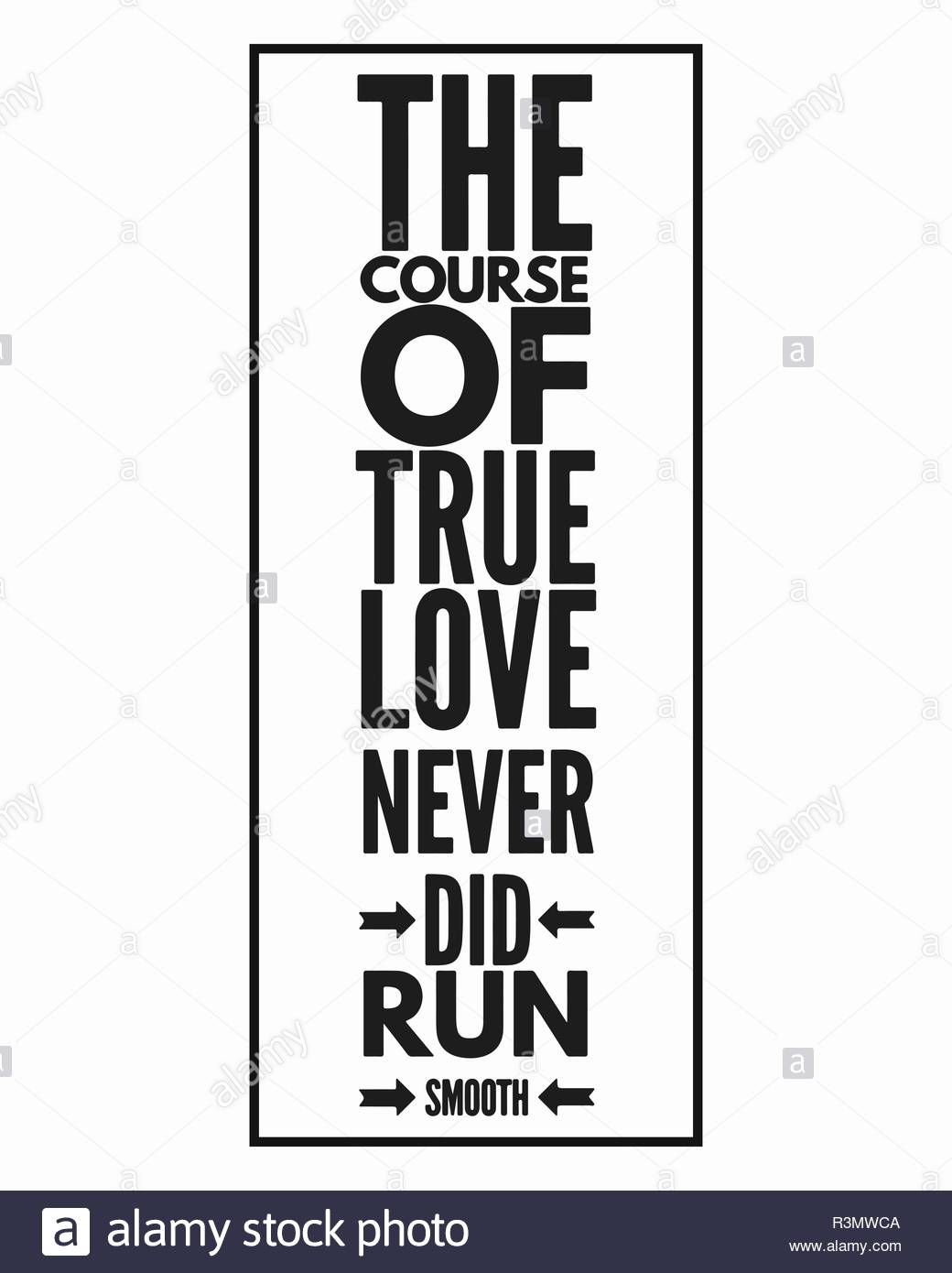 Inspirational Quote About Love In Black And White Style Vector