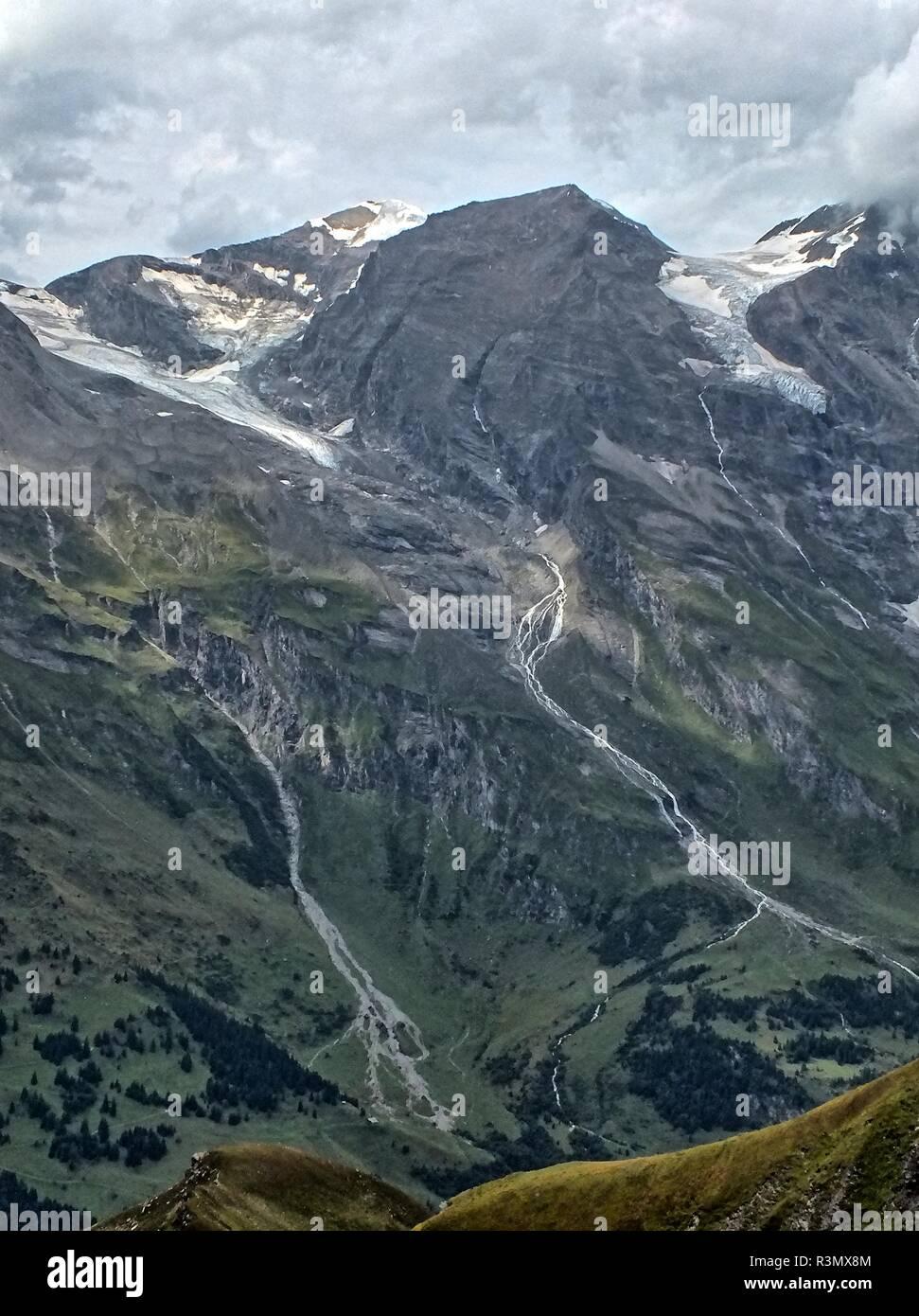 Schneebedeckte Gipfel Stock Photo
