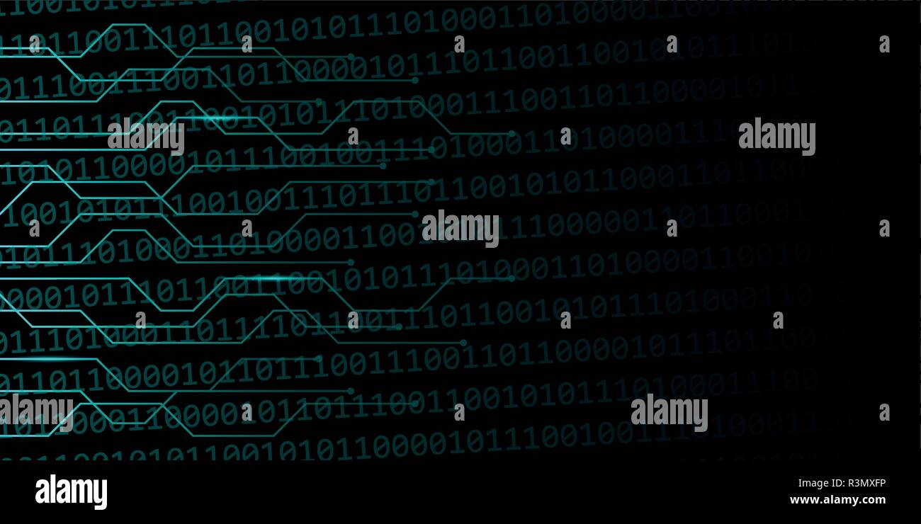 digital web background with binary code vector illustration EPS10 - Stock Image