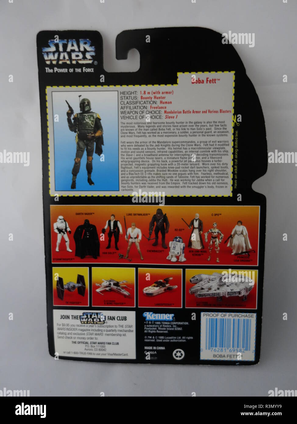 a signed carded kenner figure - Stock Image