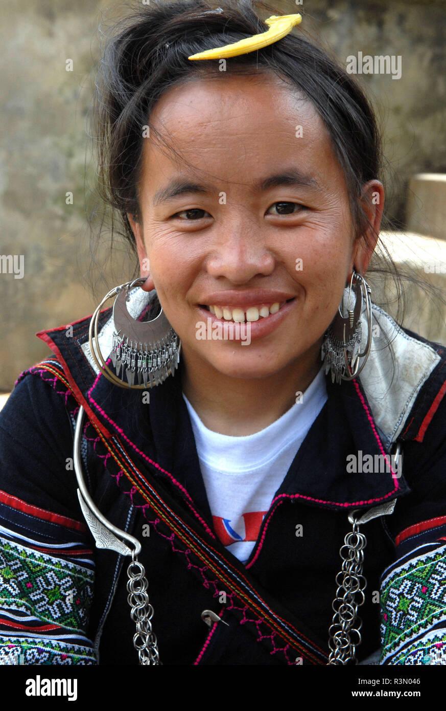 Young Hmong Woman Vietnam - Stock Image