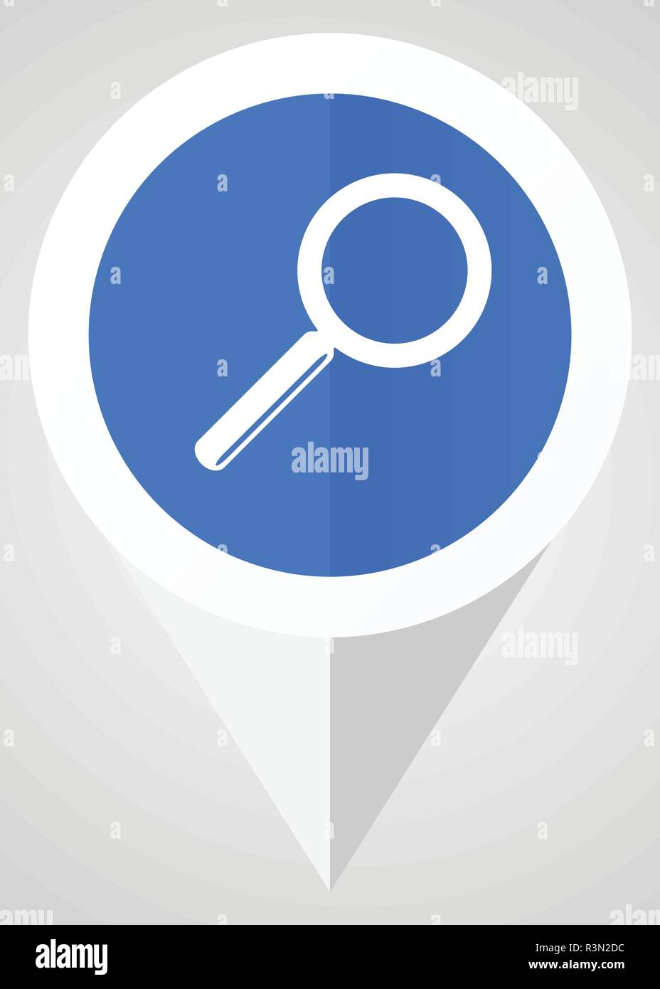 search find glass icon pointer tag vector illustration - Stock Image