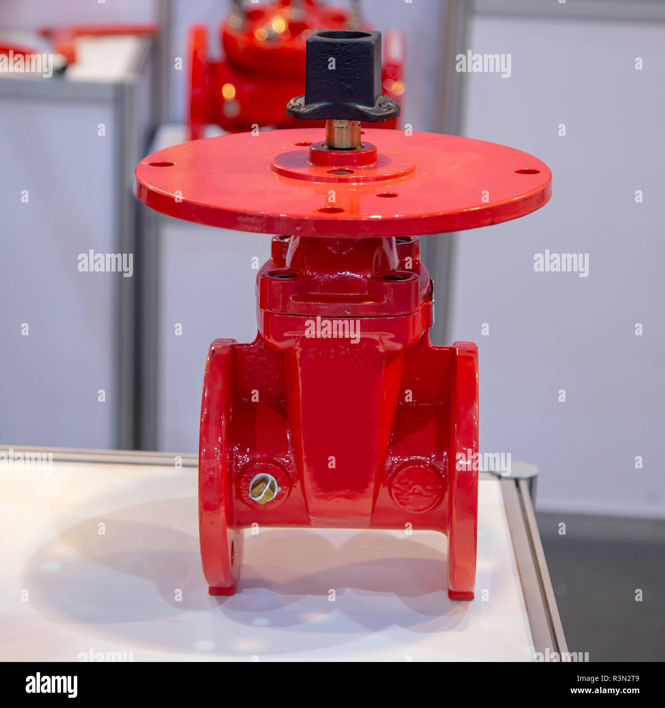 Non Rising Stem PIV Gate Valve Flange Connection - Stock Image