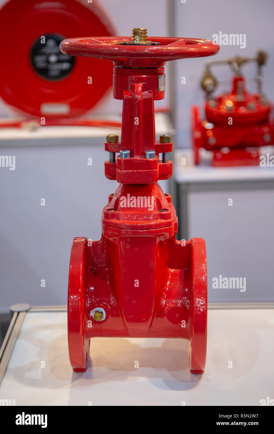 Gate valve flange connection non rising stem - Stock Image