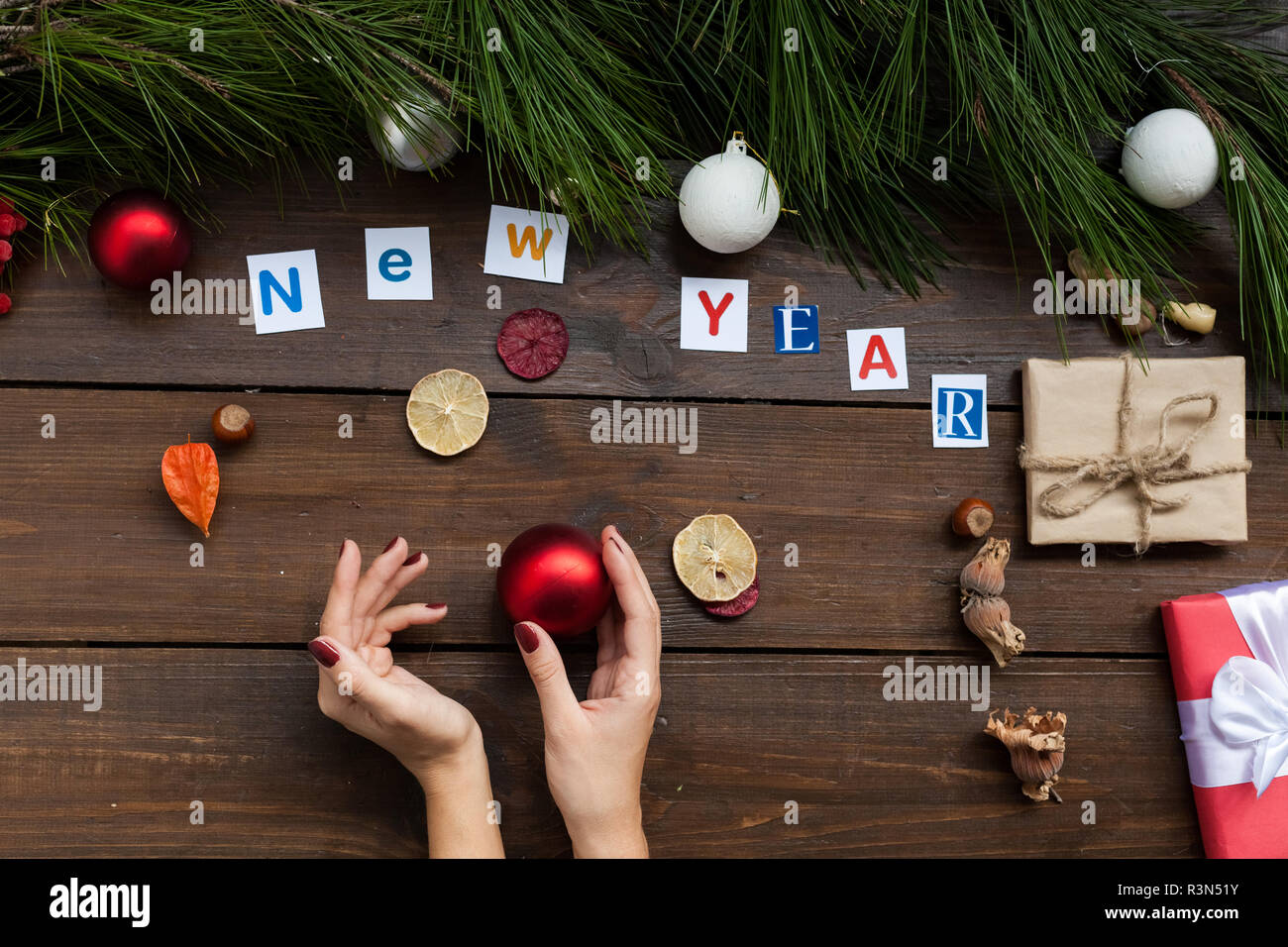 Christmas Background Christmas Gifts New Year Holiday Postcard Winter 2019 2020 Stock Photo Alamy