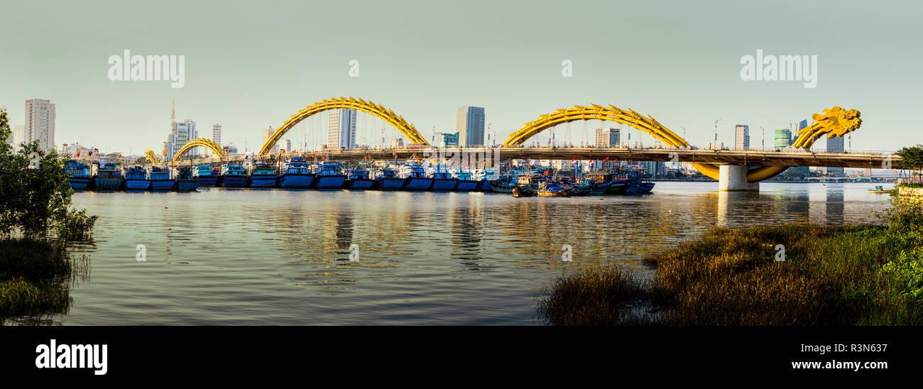 Dragon Bridge over Han River. Da Nang. Vietnam. - Stock Image