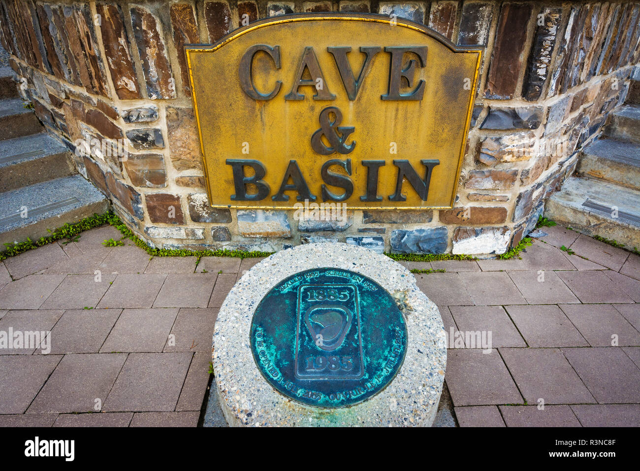 Cave and Basin National Historic Site, Banff National Park, Alberta, Canada - Stock Image