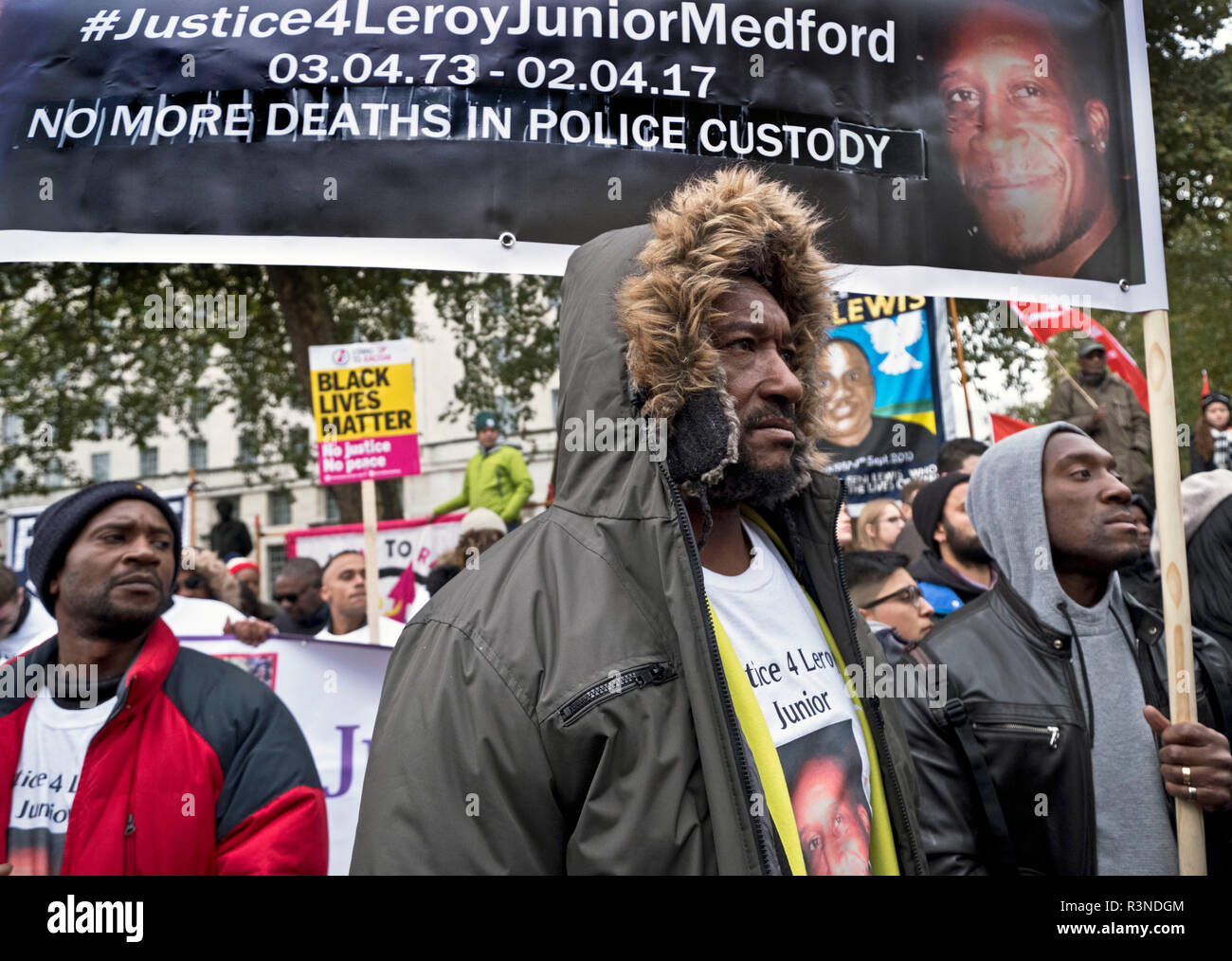 "20th anniversary of the annual procession of  'United Families and Friends Campaign""'. The UFFC is a coalition of people killed by police, in prisons, in immigration detention and detention and in secure psychiatric hospitals. Stock Photo"