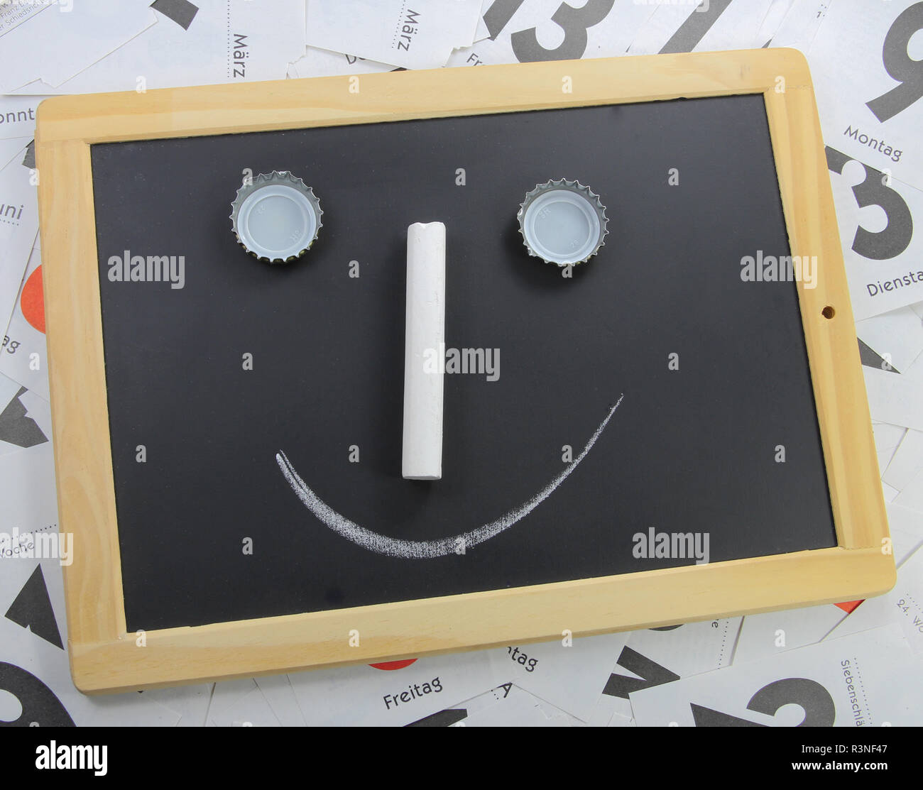 slate with face Stock Photo