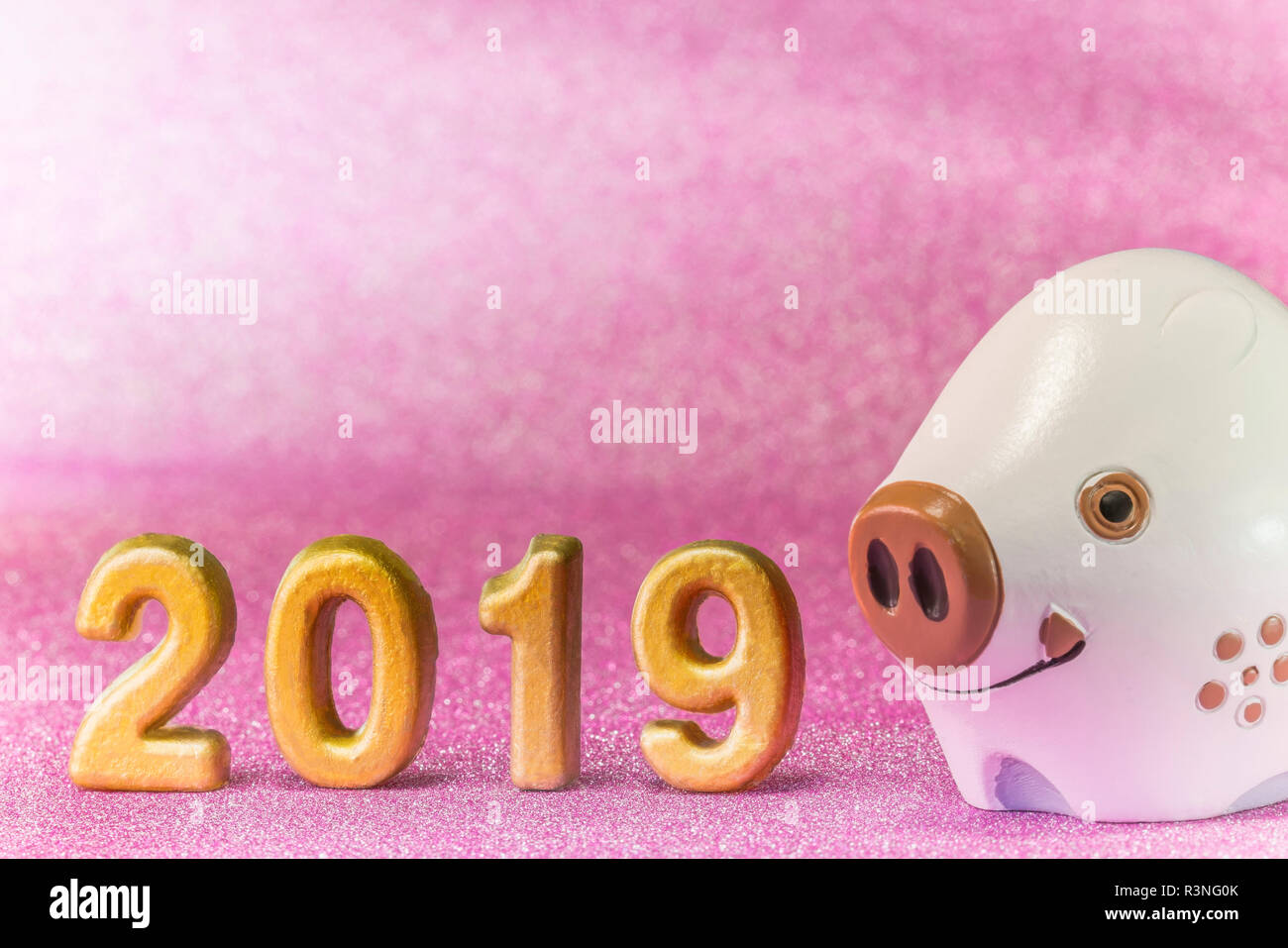 Pink Glitter Background For Japanese New Year S Cards With Cute