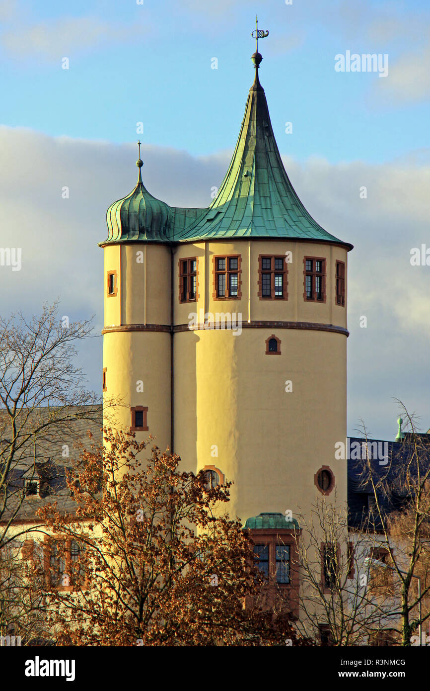 tower of the historical museum of the palatinate in speyer Stock Photo